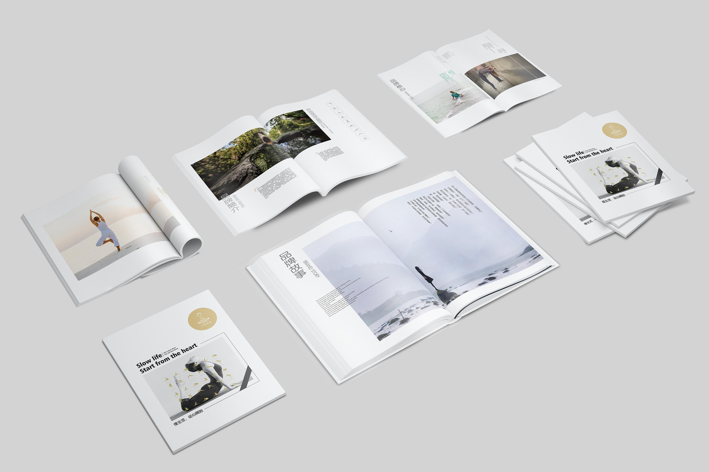 凡圣瑜伽品牌画册设计 子非乌鸦图片