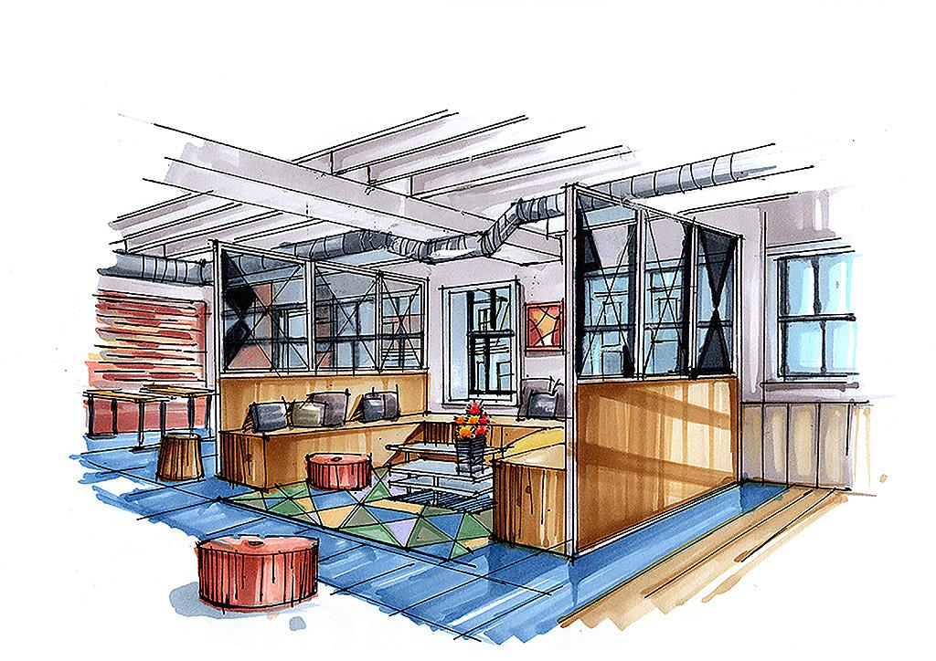 办公空间室内手绘云南昆明手绘培训