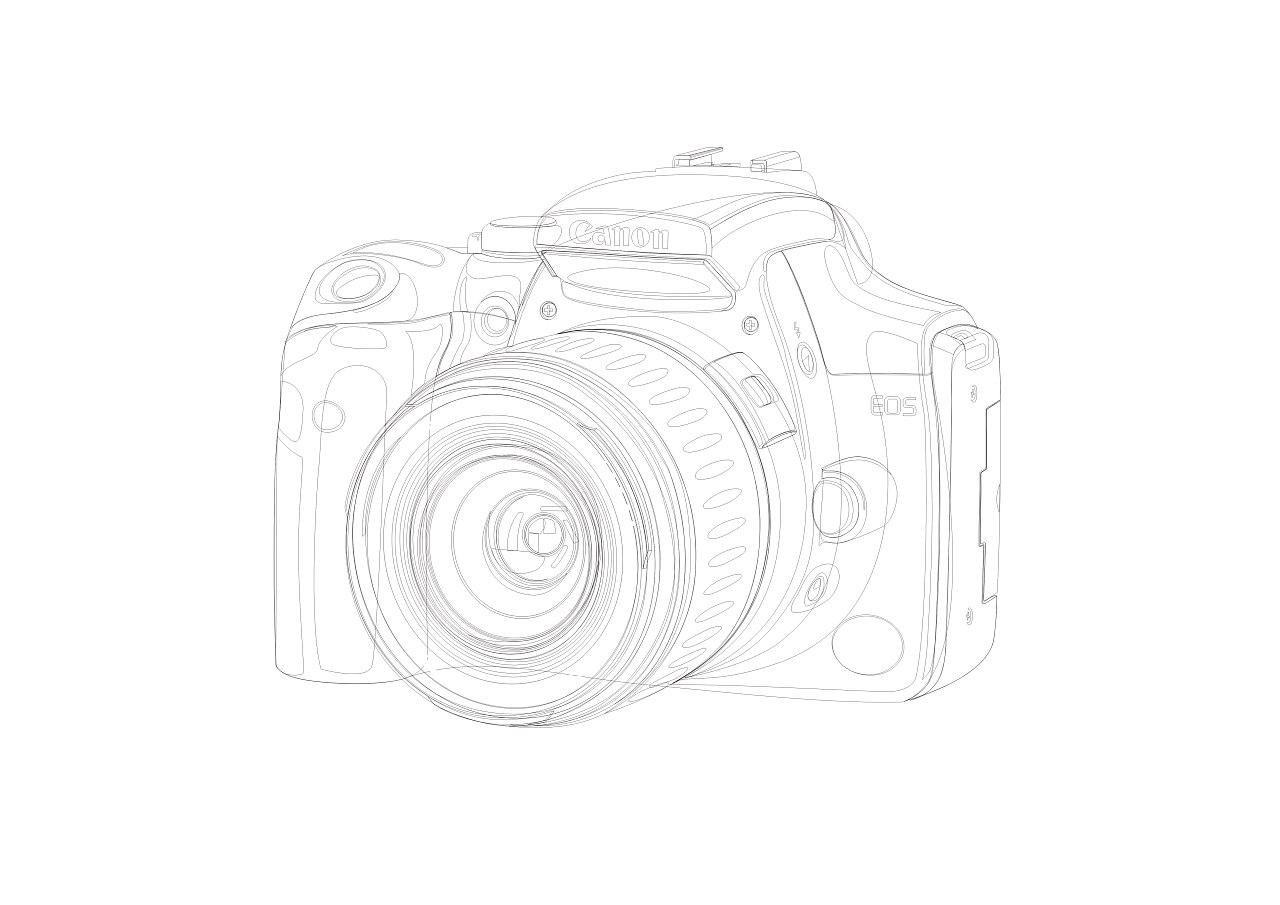 相机简笔画手绘