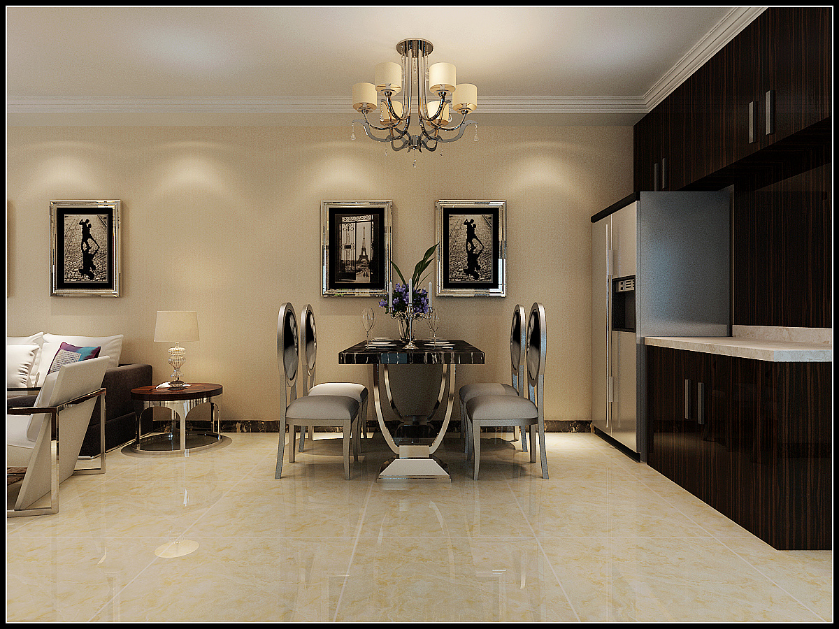 95平米三室两厅现代风格装修效果图
