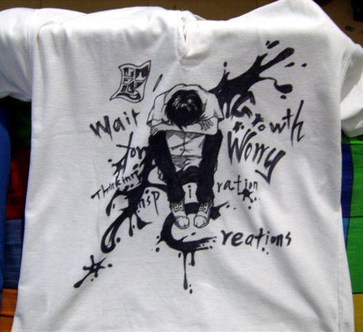 原创作品:手绘t恤