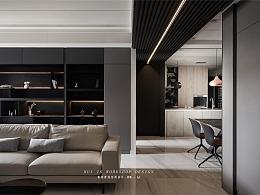 原木与石,现代时尚公寓