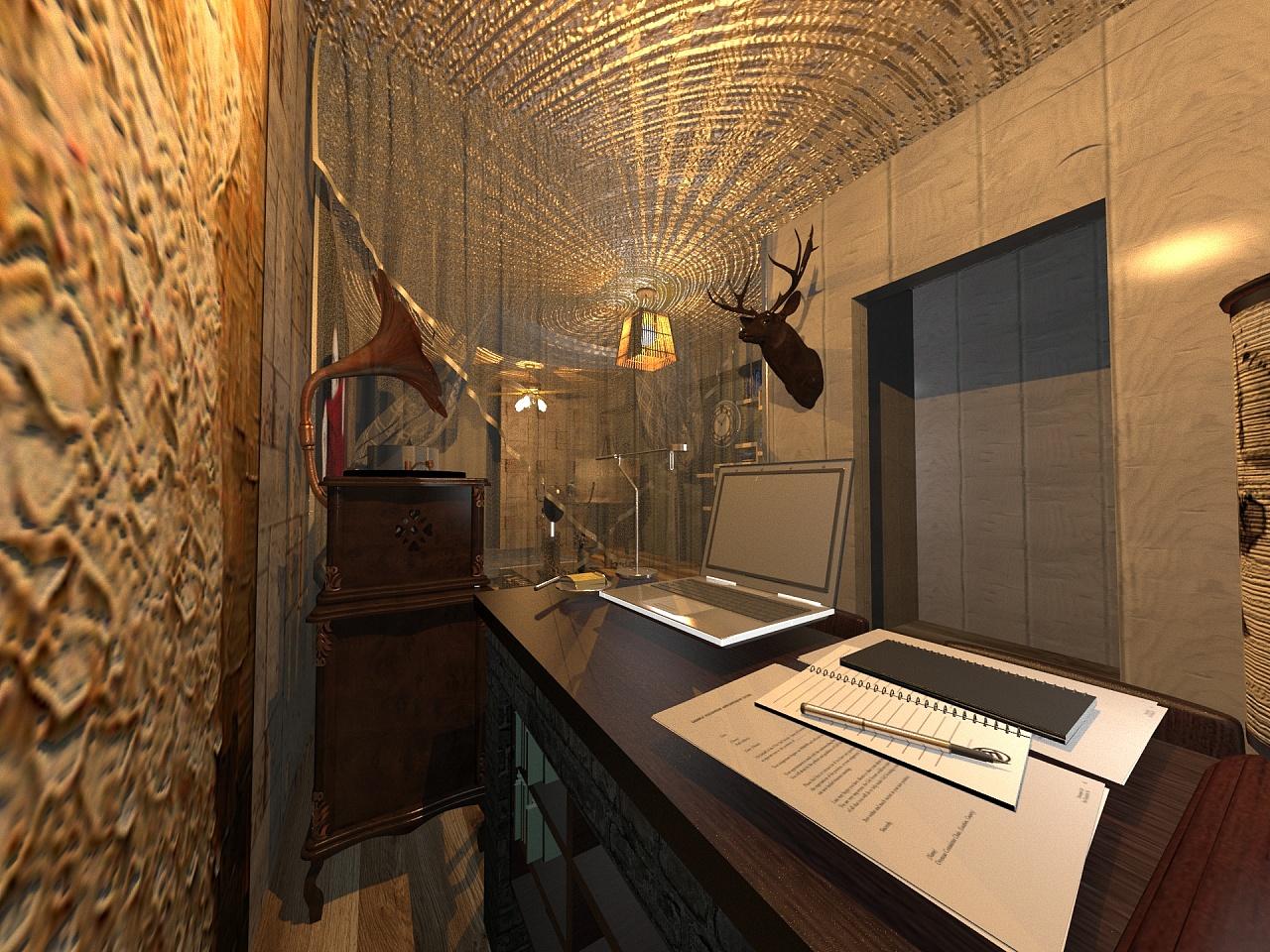 createur文艺工作室3d设计图