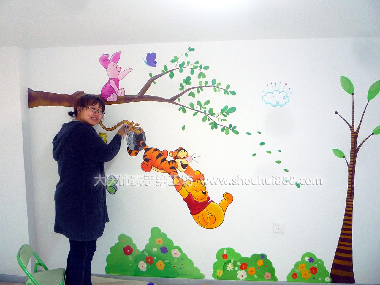 大庆饰家手绘墙作品