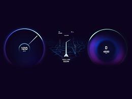 汽車儀表板UI和UX概念