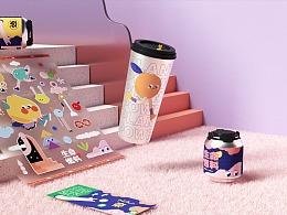 茶饮品牌IP设计 - NAINAITEA奈奈茶!
