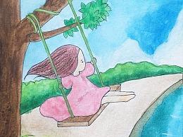《二十四节气忆童年》插画设计