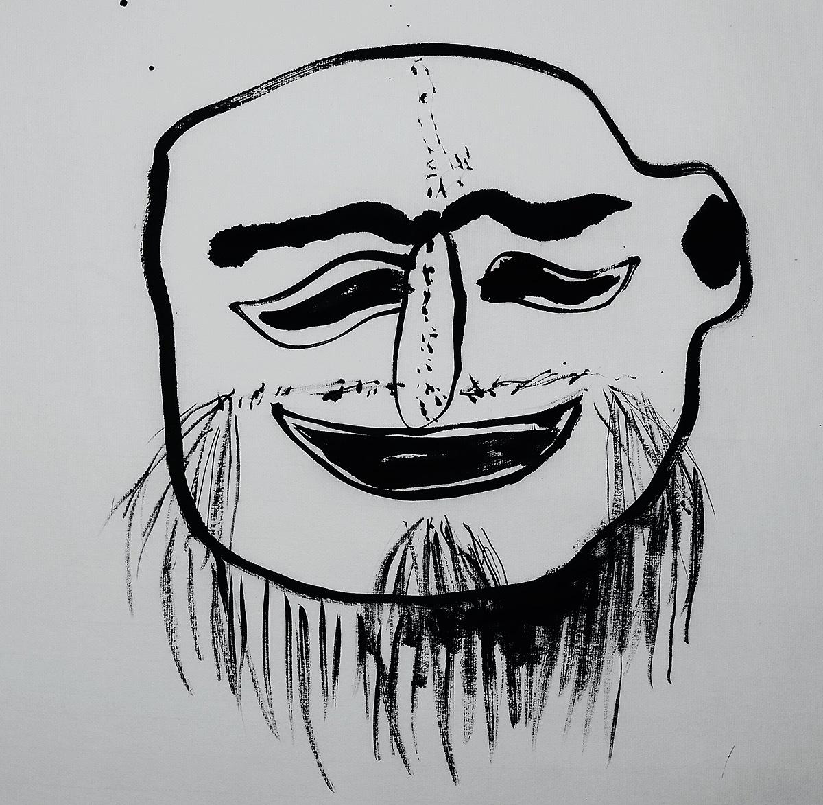 彩色面具脸