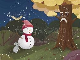 夜话小雪人