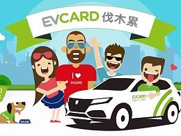 EVCARD共享汽车表情包