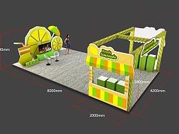 美食类购物中心舞台美术设计