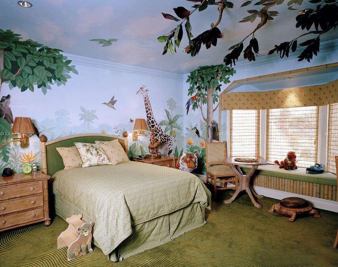 儿童房墙绘,儿童房手绘墙,儿童房墙绘作品