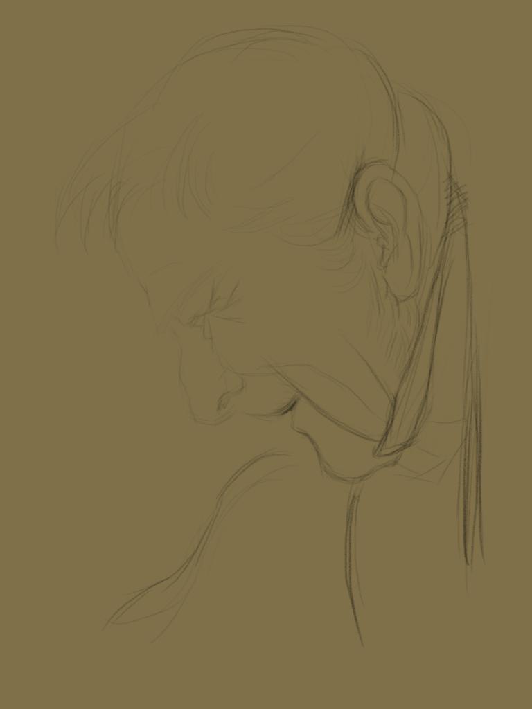 板临摹门采尔的素描