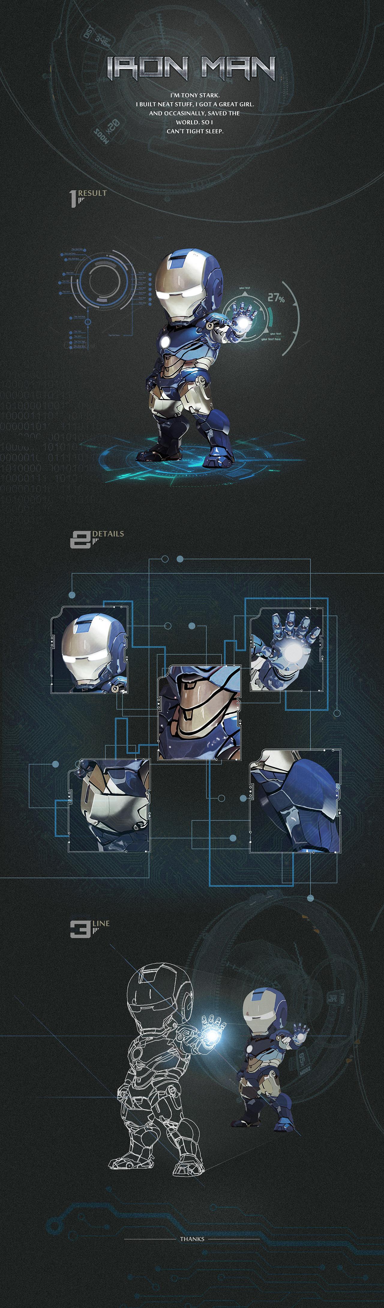 超写实图标:钢铁侠