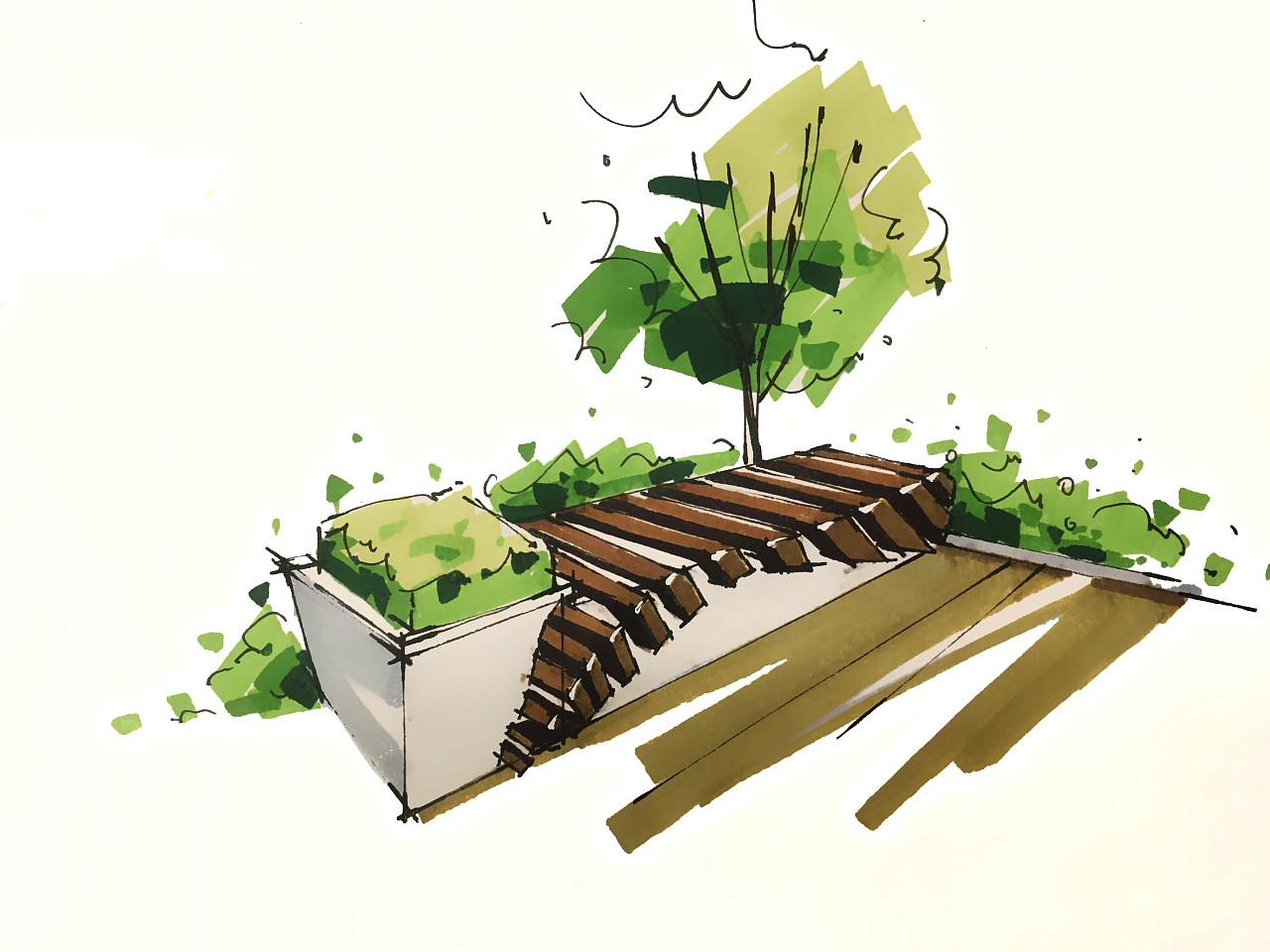 植物工业手绘图