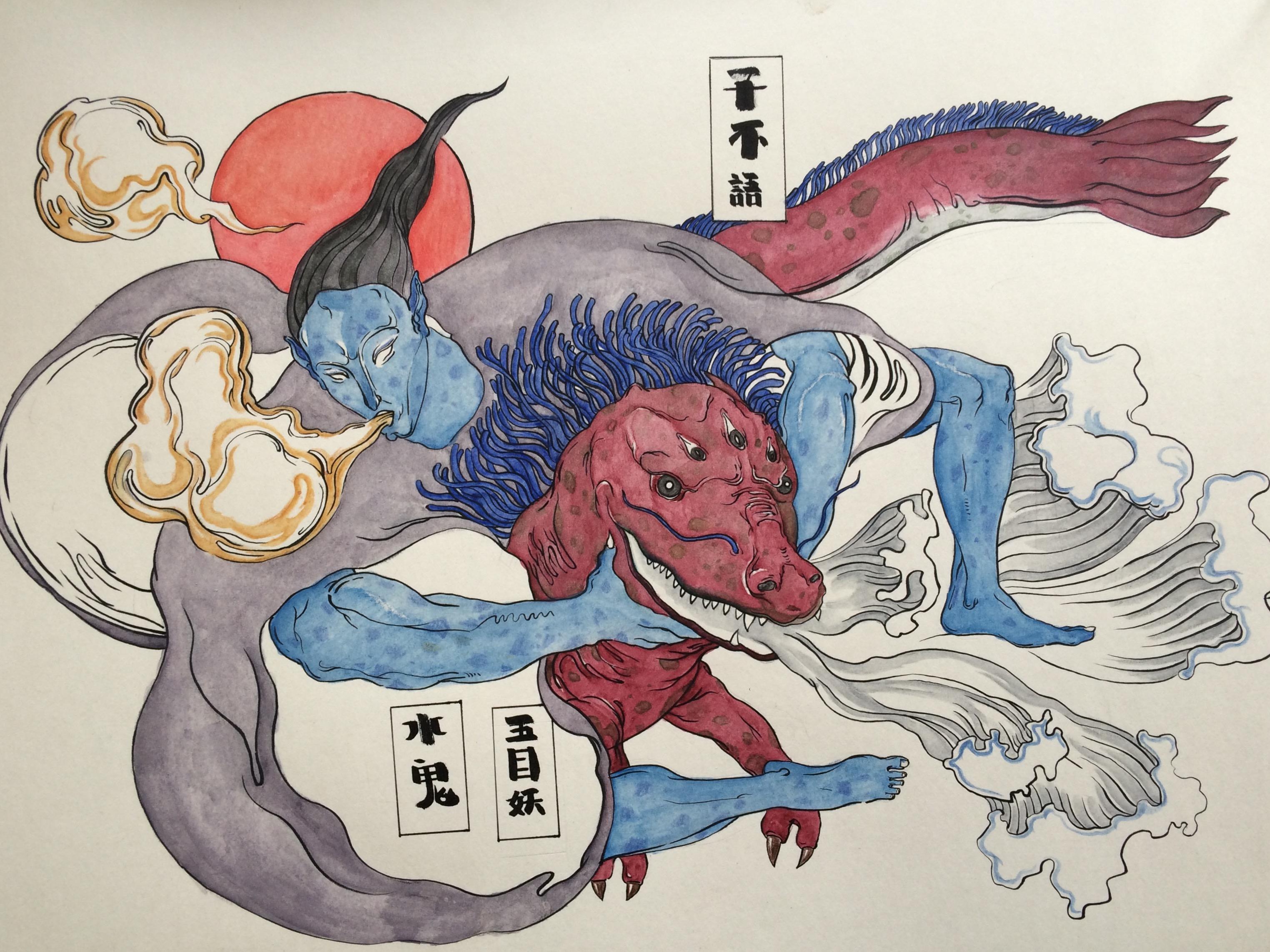 子不语手绘插图|插画|插画习作|学院派派 - 原创作品