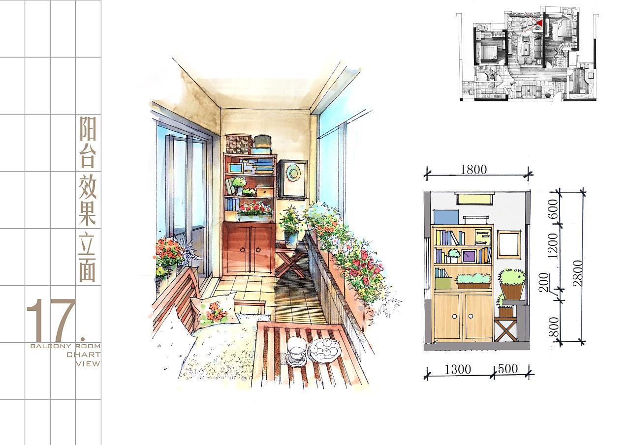 邮筒手绘设计图