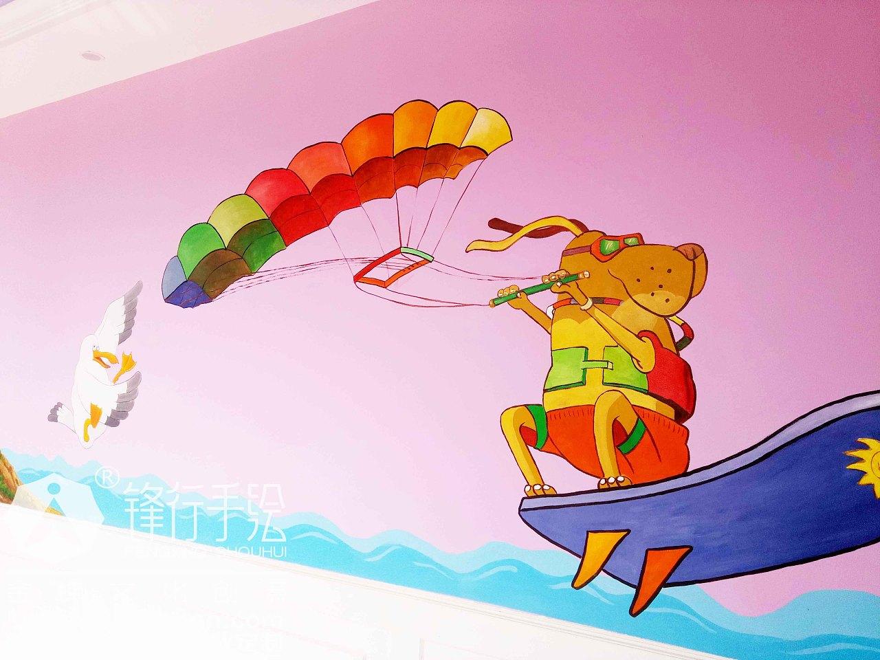 幼儿园主题手绘墙 怀化锋行手绘|其他|墙绘/立体画|锋