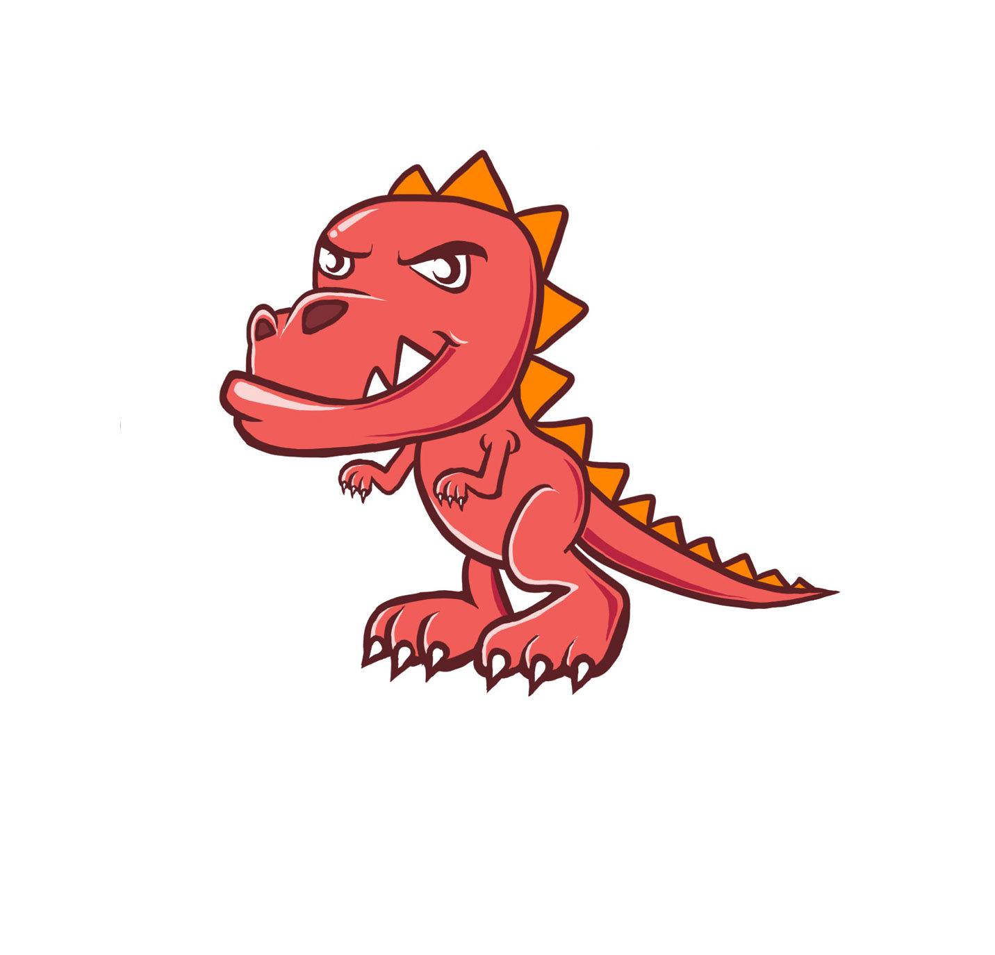 手绘卡通小恐龙