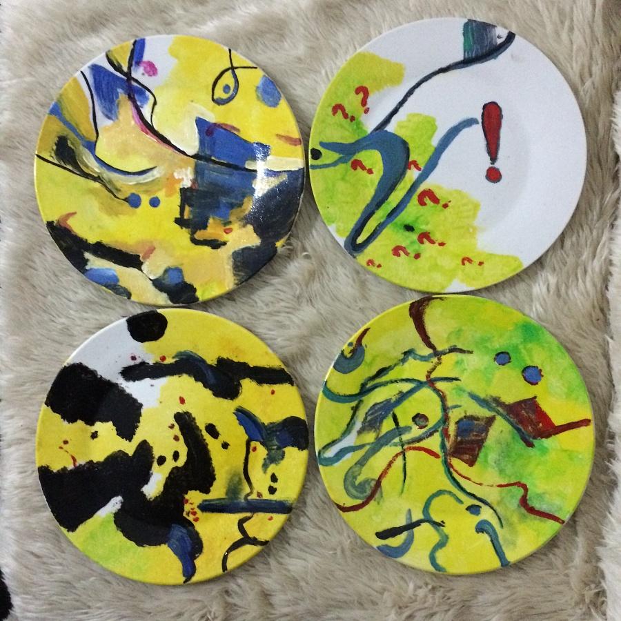 彩绘盘子|其他手工|手工艺|思越