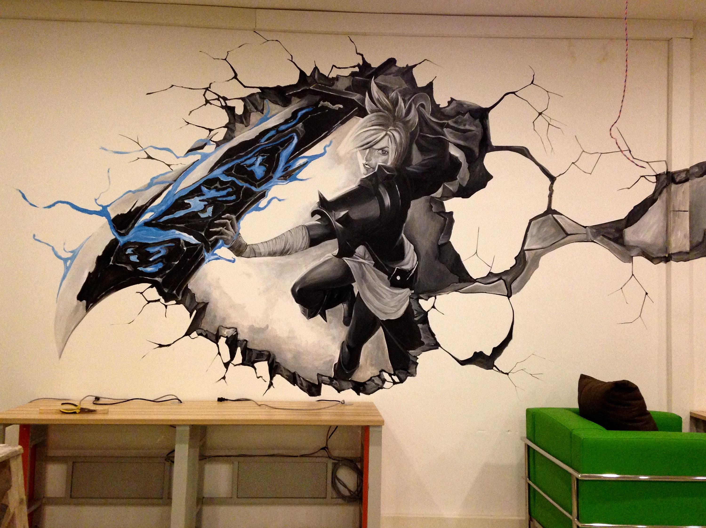 黑白灰---网吧壁画