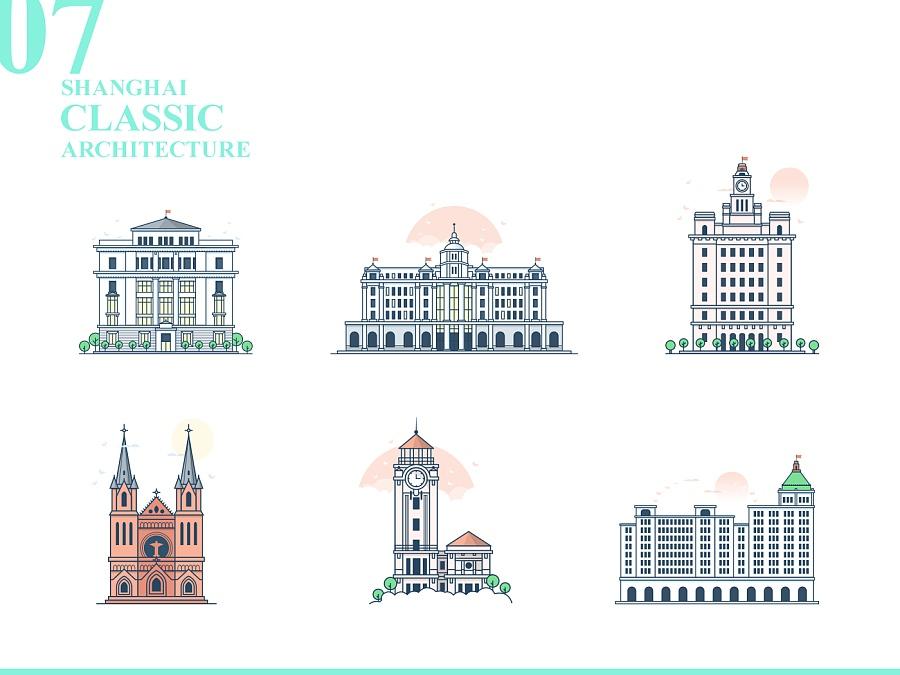 上海建筑插画设计|其他gui|ui|黑马青年