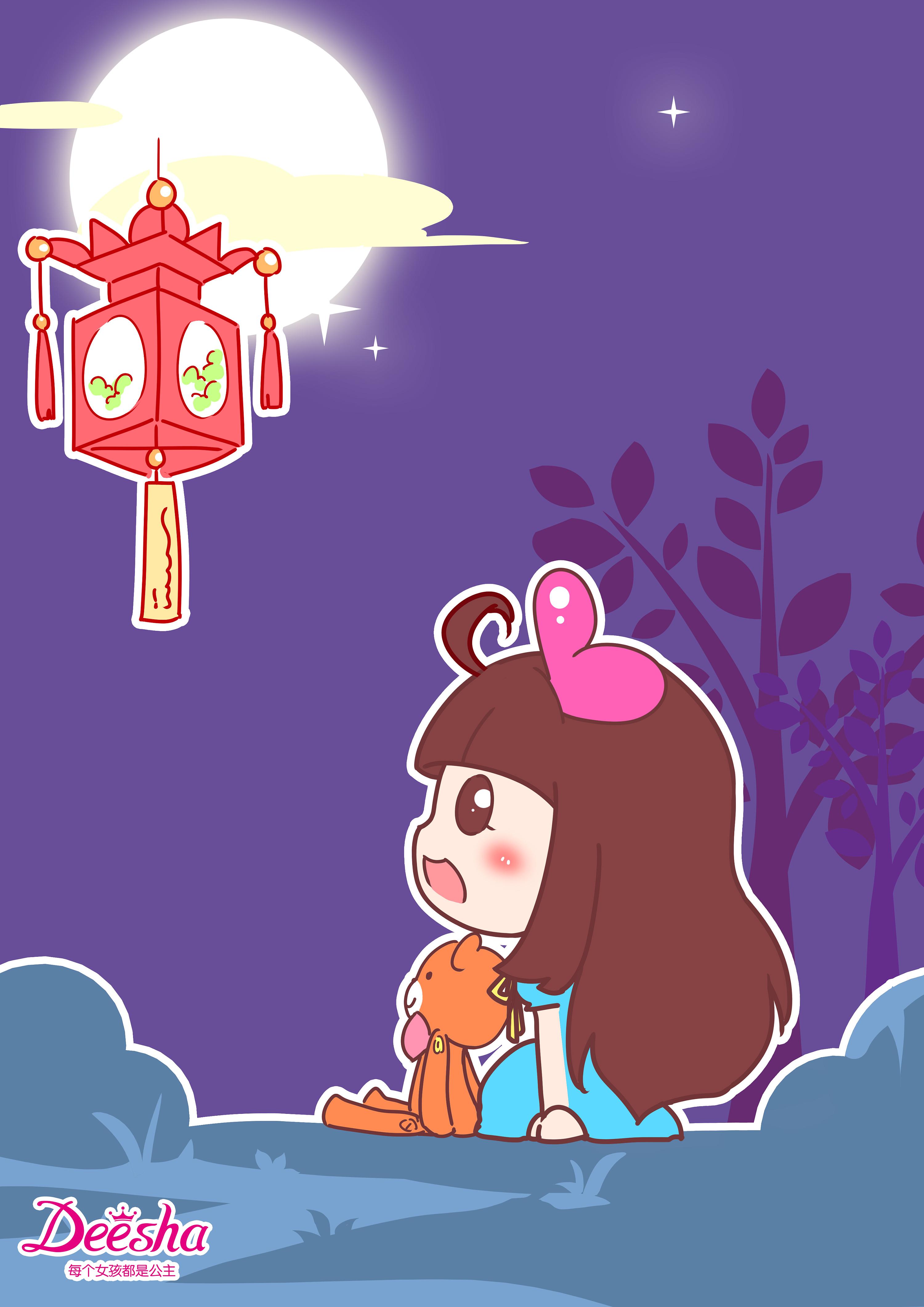 笛莎公主漫画手绘-闹元宵
