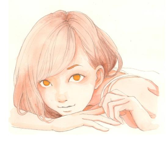 马克笔动漫人物图片女生可爱