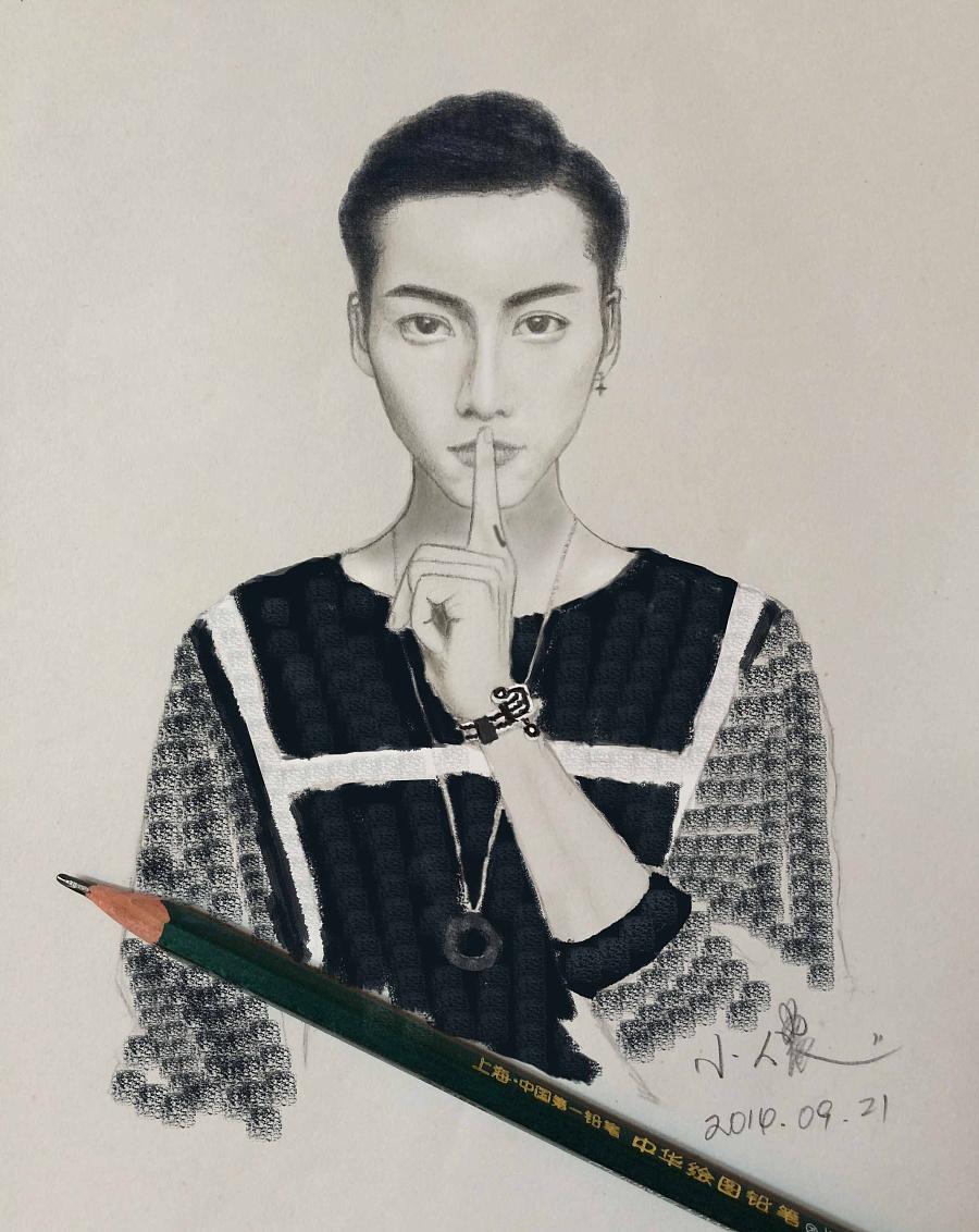 陈伟霆(陈等等)的手绘,鼠绘图