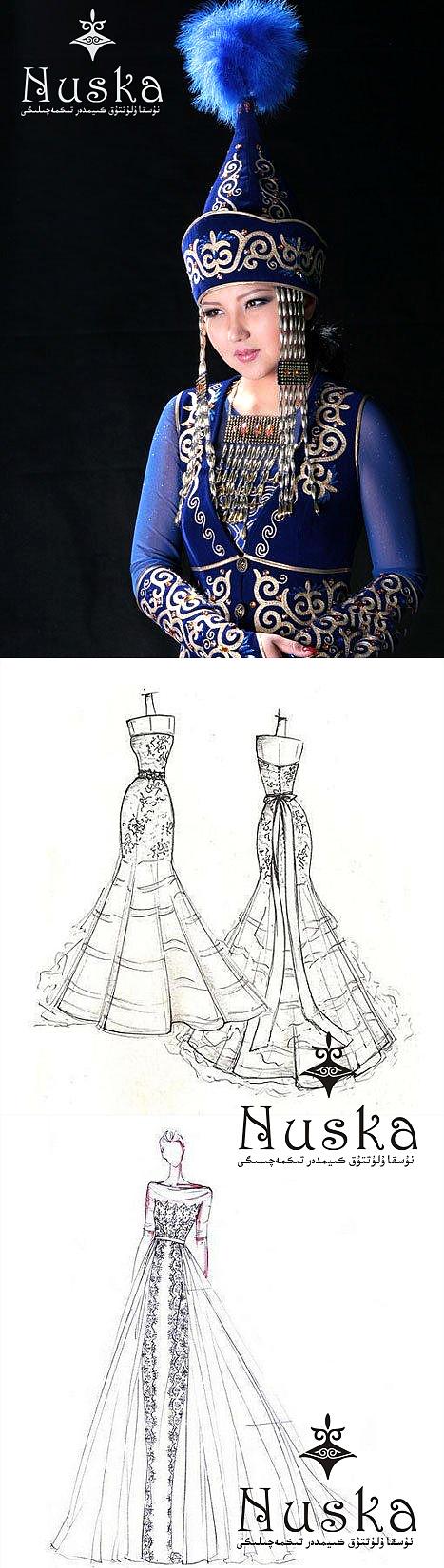 柯尔克孜族服装自古以来具有独特风格.图片