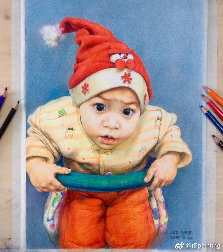 彩铅手绘-宝宝