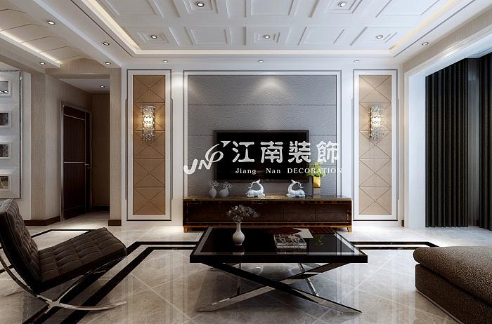 哈尔滨江南装饰公司万达华宅港式风格装修效果图