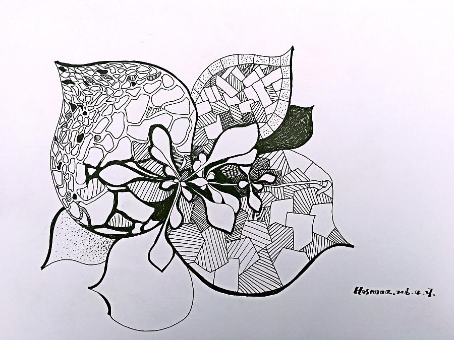 手绘黑白创意线描|涂鸦/潮流|插画|小语娜娜图片