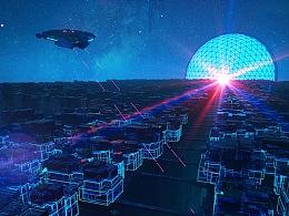 插画-太空堡垒