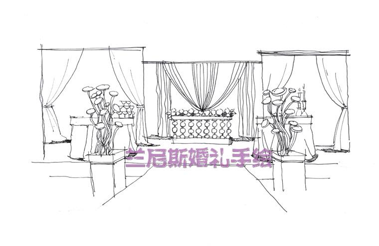 长沙婚礼手绘培训—— 兰尼斯婚礼培训机构 @婚礼手绘
