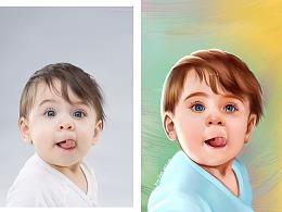 超写实小孩头像