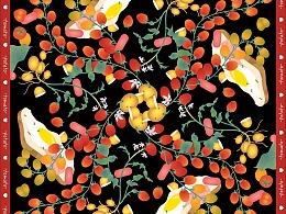 丝巾设计-土豆&西红柿