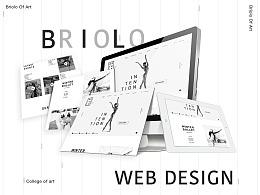 Briolo艺术学院官网原创设计