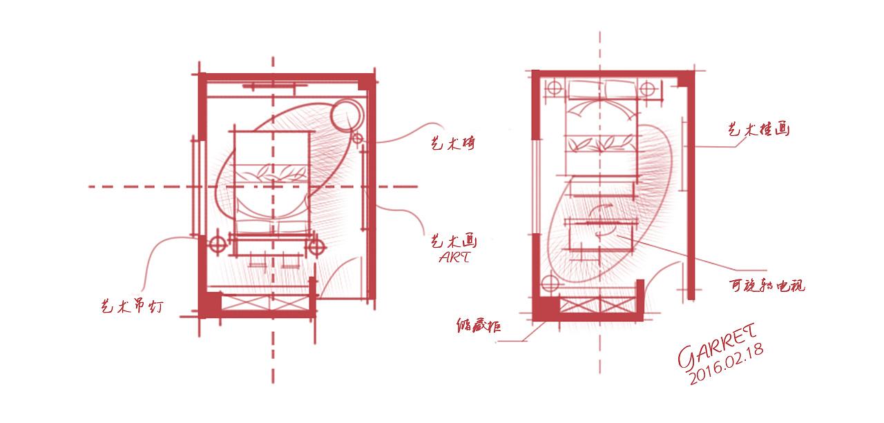 【耀设计】做的一些skb手绘平面方案(2月集锦)