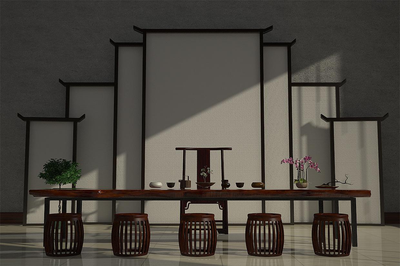 背景工业徽派屏风产品 教学/家具 风格 爱动手的茶室家具公司图片