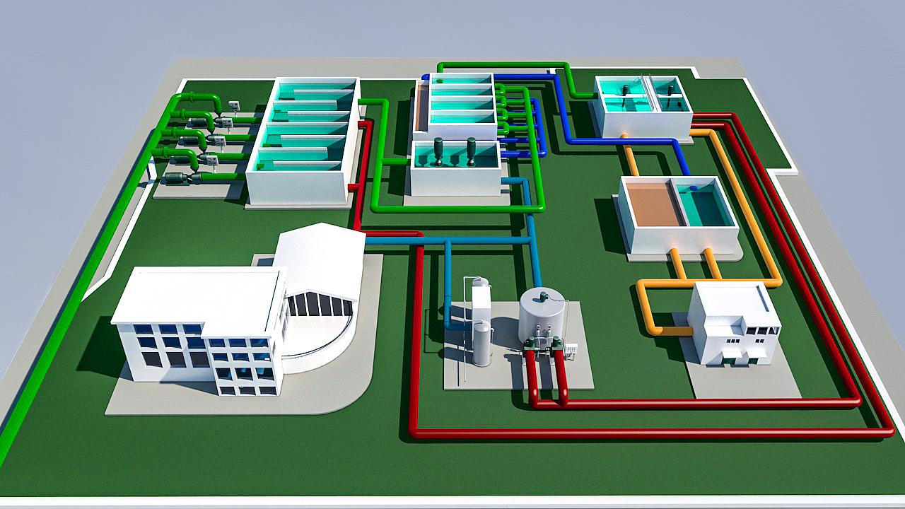 水处理工艺流程图
