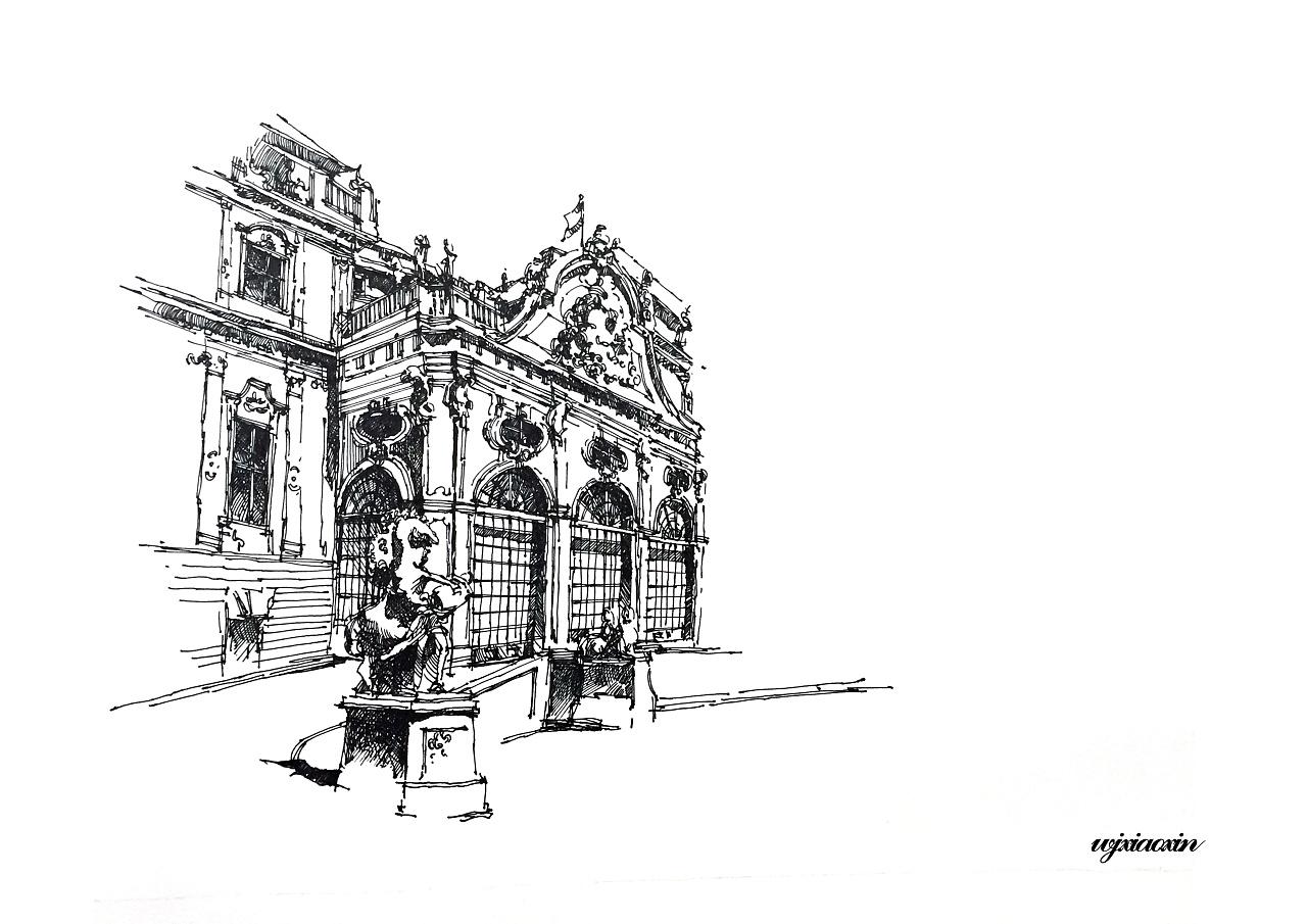 《欧洲建筑编》建筑钢笔线稿