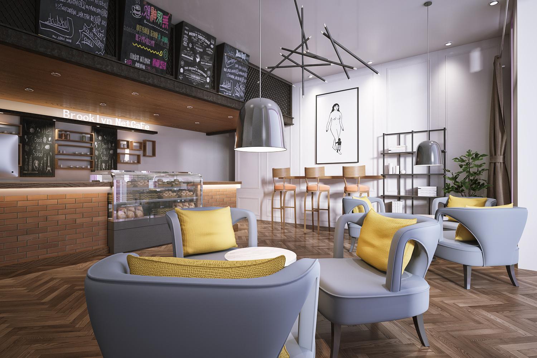 咖啡厅|空间|室内设计|tm小明同学 - 原创作品 - 站酷