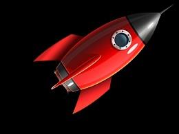 火箭飞行gif图ae制作