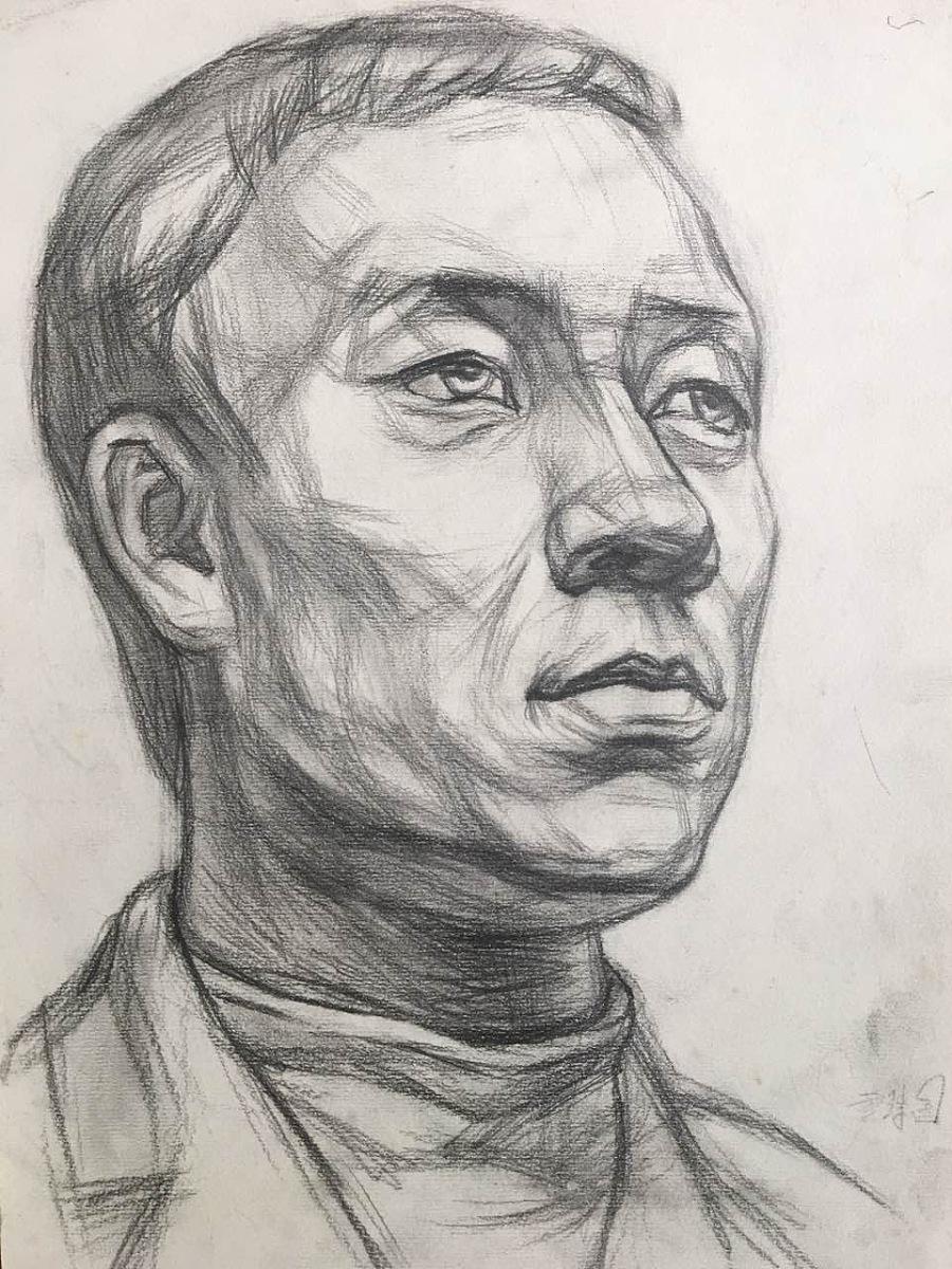 手绘-素描 人物头像|绘画习作|插画|g345352825