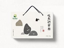 生态胚芽米手绘包装