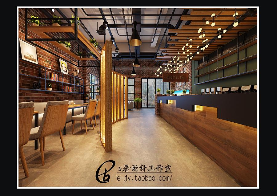 咖啡店|展示/橱窗/店面设计|空间/建筑|e居设计