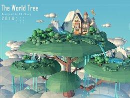 C4D物理天空渲染-小小世界树