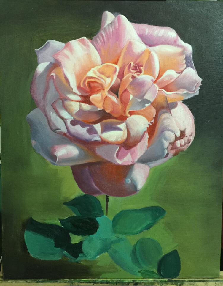 原创作品:写实油画花卉
