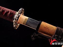 德匠堂宝剑-龙泉刀剑-竹装打刀 三枚合烧刃(DJ-1332)